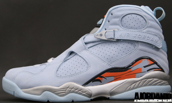 Air Jordan 8 Retro White Orange Blaze Silver Stealth shoes