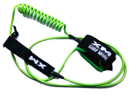 hybrid straight and coiled sup leash