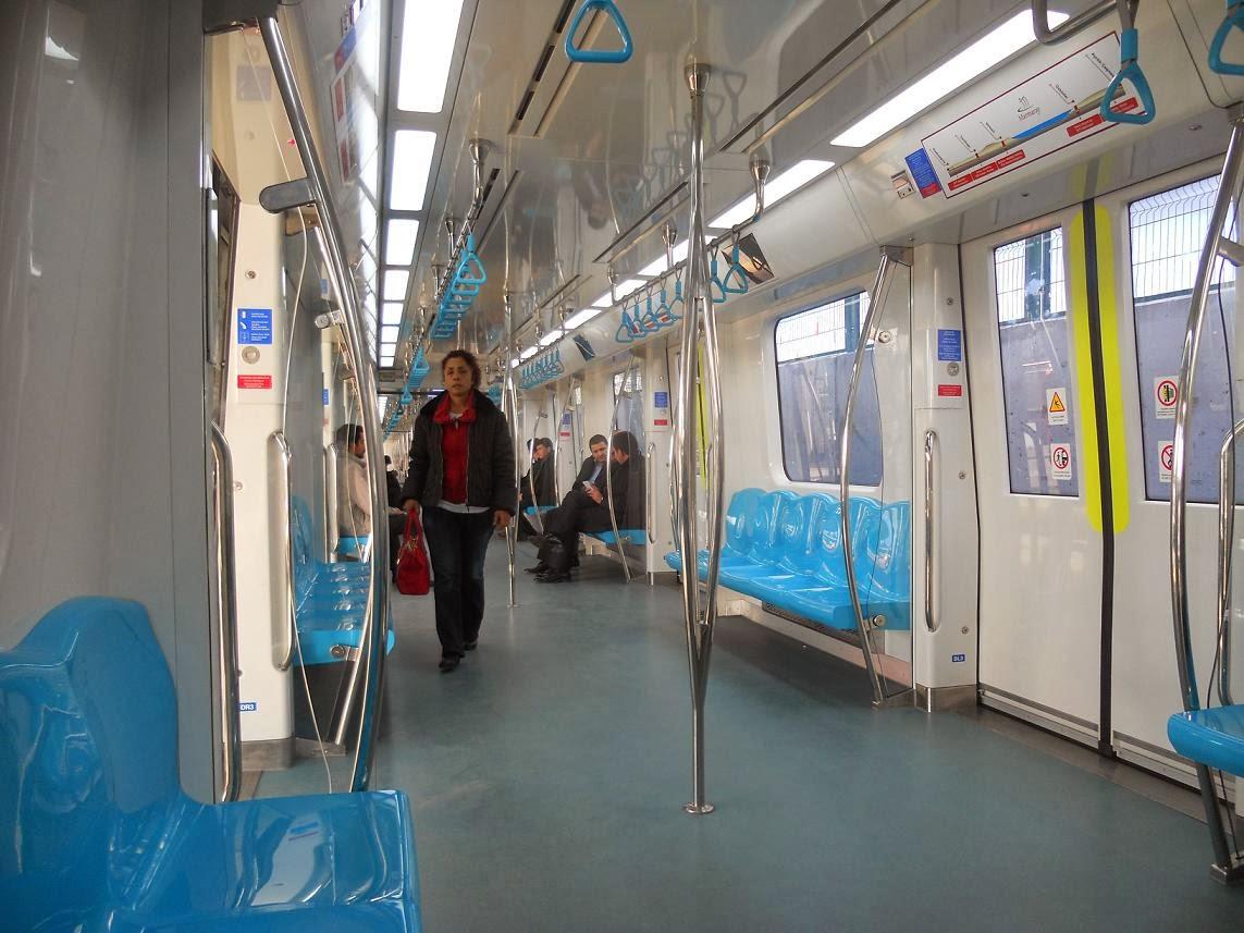 Marmaray iç mekan vagonlar istanbul
