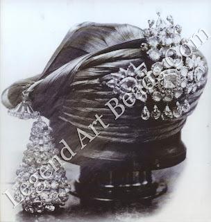 A diamond sarpech and turra (turban tassel) worn by Khande Rao Gaekwar of Baroda in the 1860s.