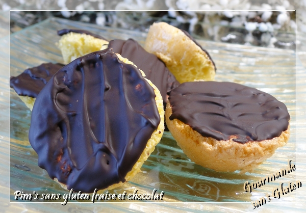 Pim's fraise et chocolat sans gluten