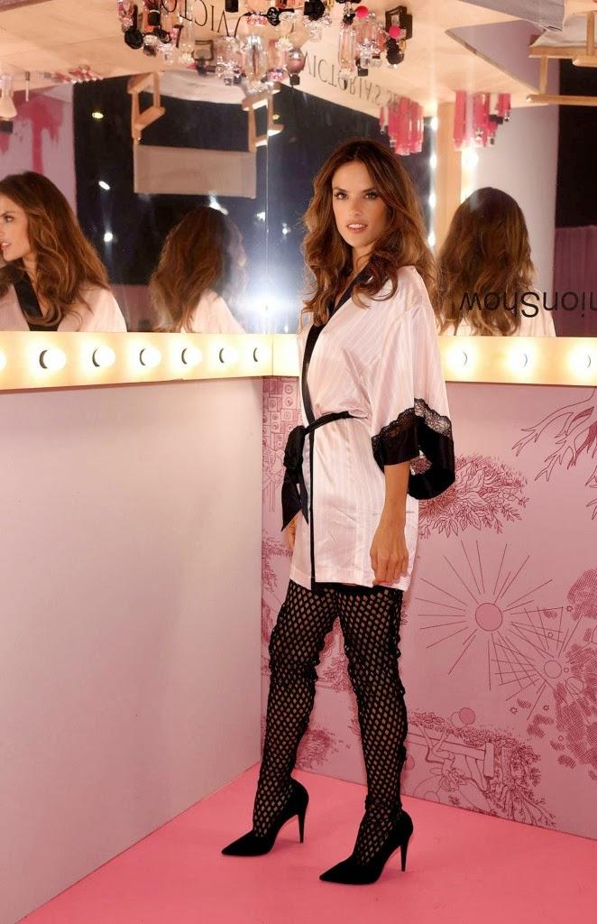 Alessandra Ambrosio – 2014 Victoria's Secret Show Backstage