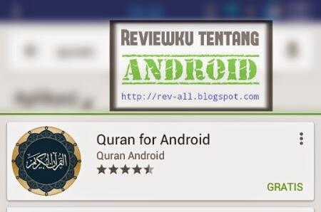 Ikon dan nama aplikasi Quran for Android - aplikasi quran yang bagus untuk tablet (rev-all.blogspot.com)