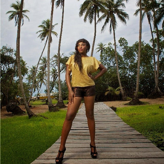 Ini Edo Flaunts Her Sexy Long Legs