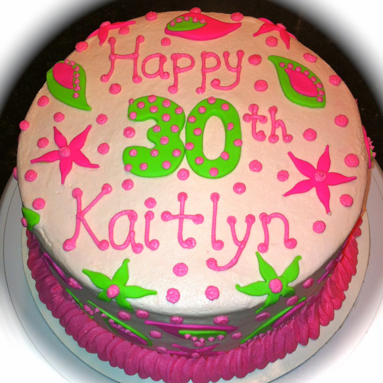 Kake Lilly Pulitzer inspired cake