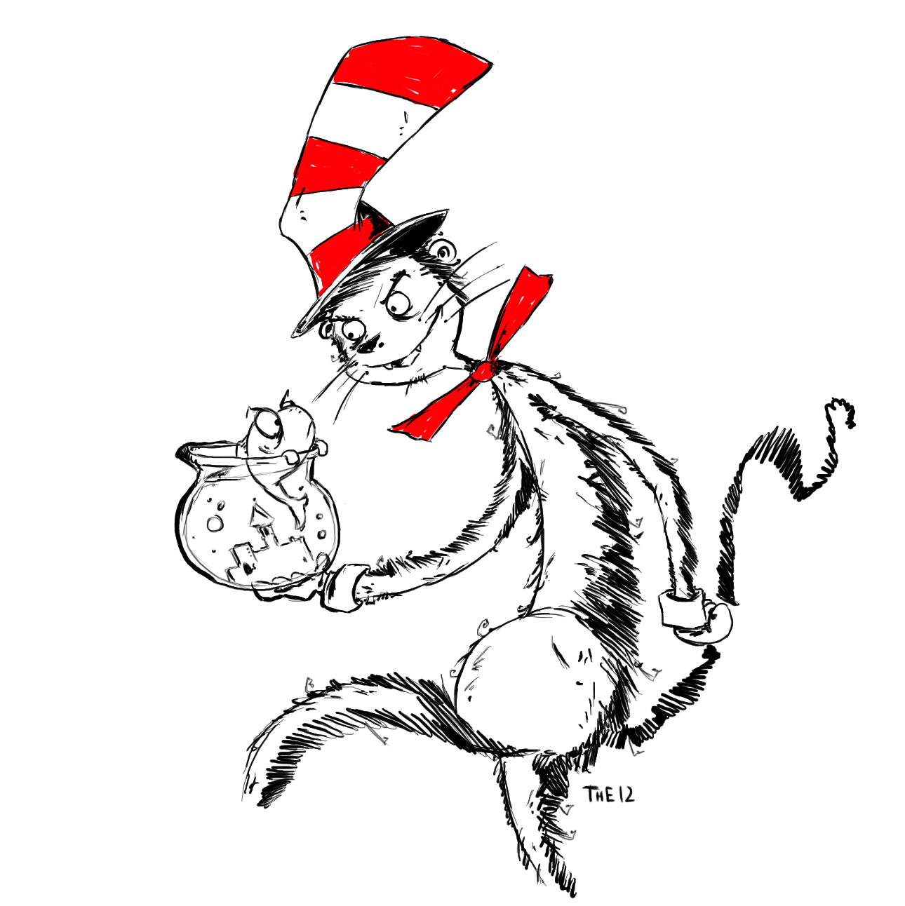 Cat In The Hat Coloring Pages Coloring pages of cat in the