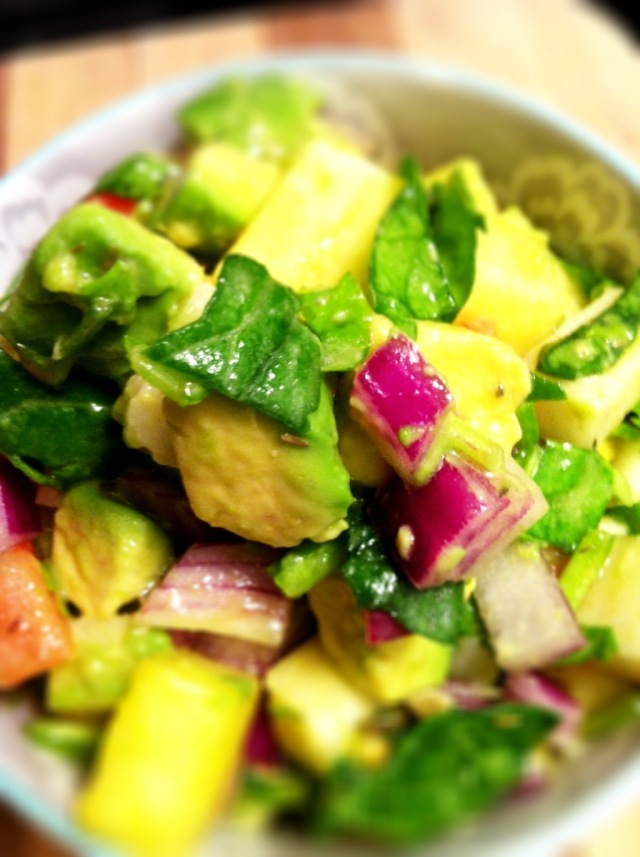 A Simply Raw Life: TROPICAL CHOPPED SALAD WITH PINAPPLES ...