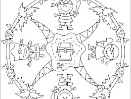 Halloween Mandala Coloring Pages