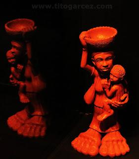 Artesanato de barro exposto no espaço Nossas Histórias, no Museu da Gente Sergipana, em Aracaju - Sergipe