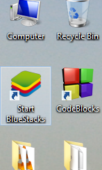 start bluestacks desktop shortcut