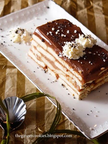 Меню за Коледа рецепта за бисквитена торта с шоколад