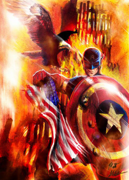 Captain America 911 por Twynsunz