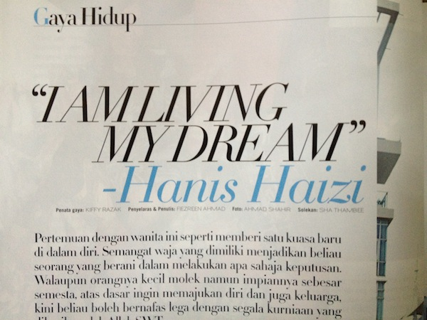 Hanis Haizi featured in Nona magazine