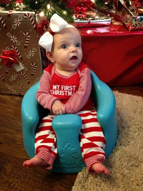 cute Christmas baby picture