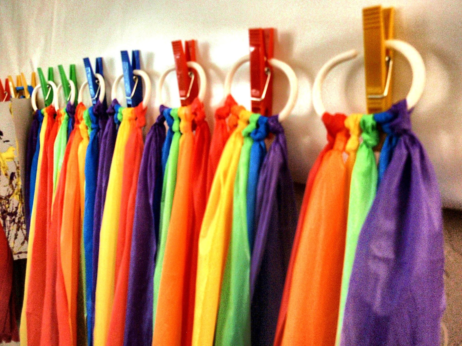 Doodle All Day: Rainbow Party Streamers