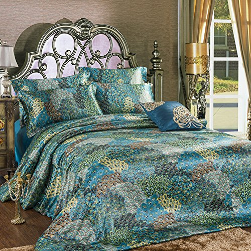Peacock Themed Amp Peacock Colored Comforter And Bedding Sets
