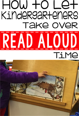 Read Alouds for Kindergarten- Need a great way to incorporate read alouds into your day?  Let your students take over and run the show.