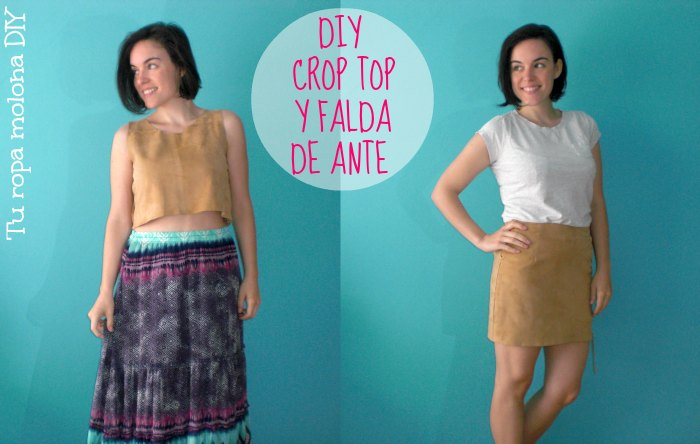 DIY CROP TOP Y FALDA ANTE