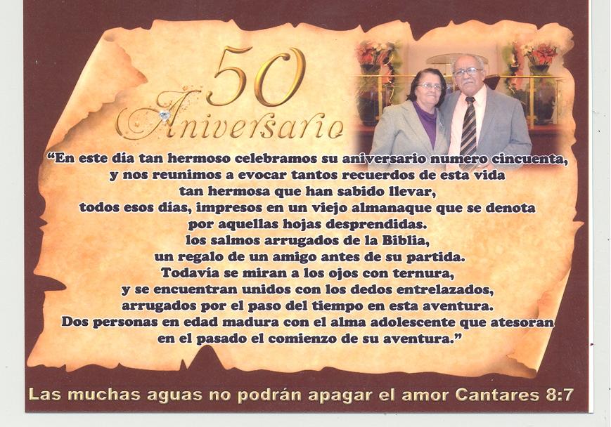 50 Aniversario De Bodas Poemas