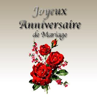 Carte joyeux anniversaire de mariage