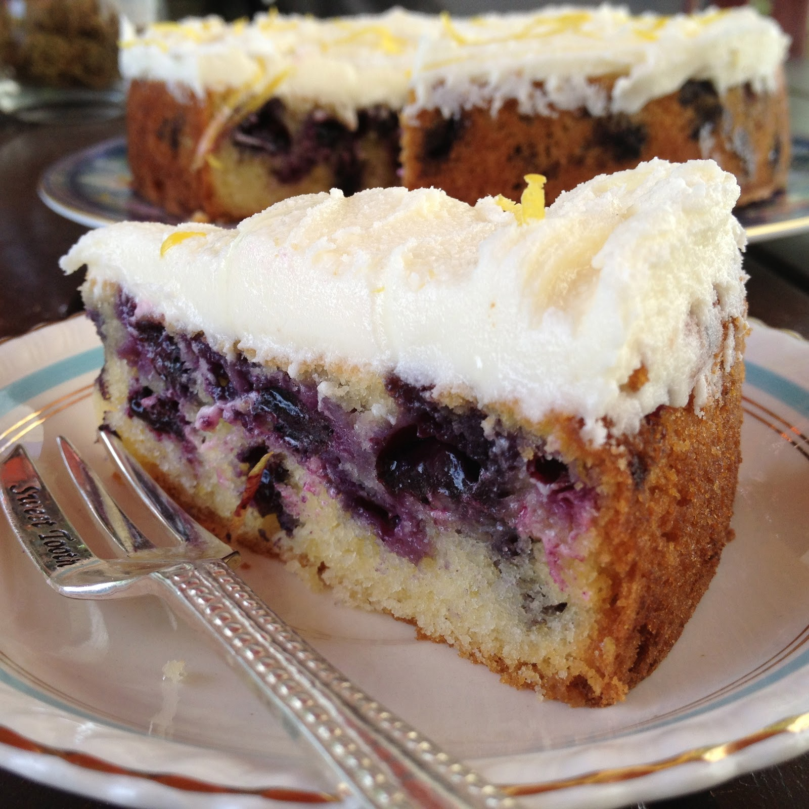 Sophie Likes Cake: Lemon Blueberry Sour Cream Cake