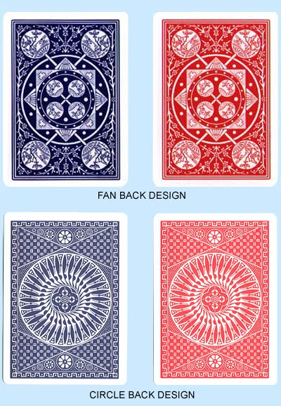 Tally Ho Circle Fan back Red Blue Linoid Finish ไพ่ design