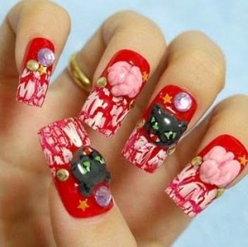 halloween nail 3d stickers