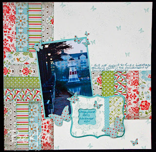 Scrapbook Page with Top Note Tag