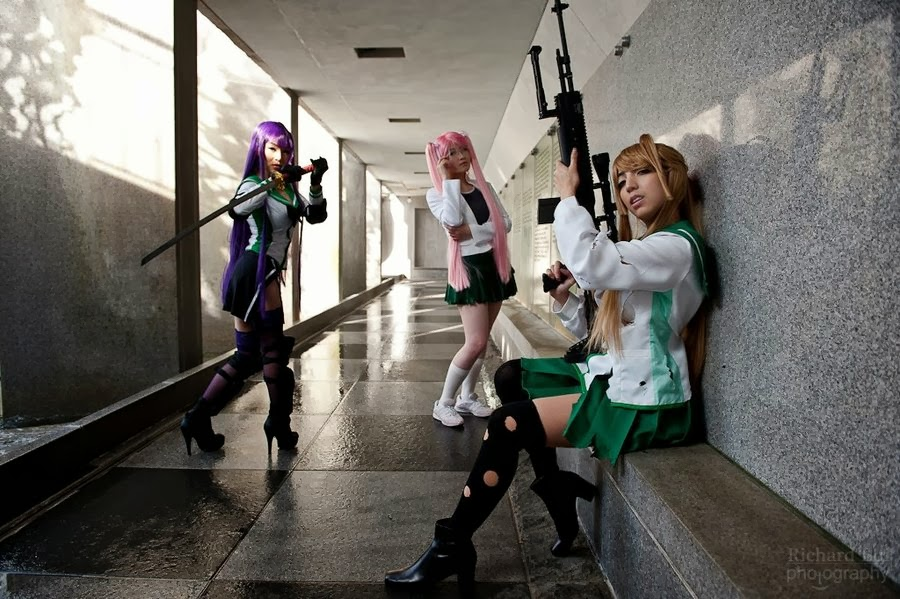 Highschool of the Dead - Saeko, Saya e Rei