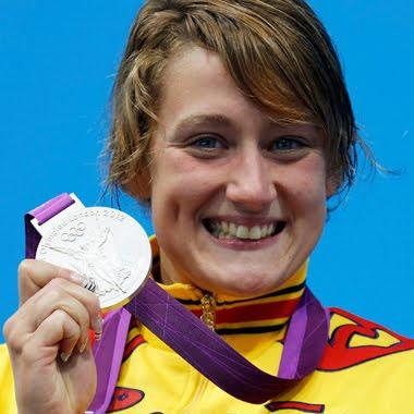 medallas de plata Mireia del Monte juegos Olímpicos de Londres 2012 España natación