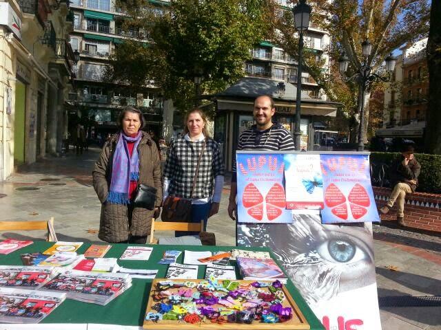 Feria de asociaciones. Granada. Asociación Lupus Granada.