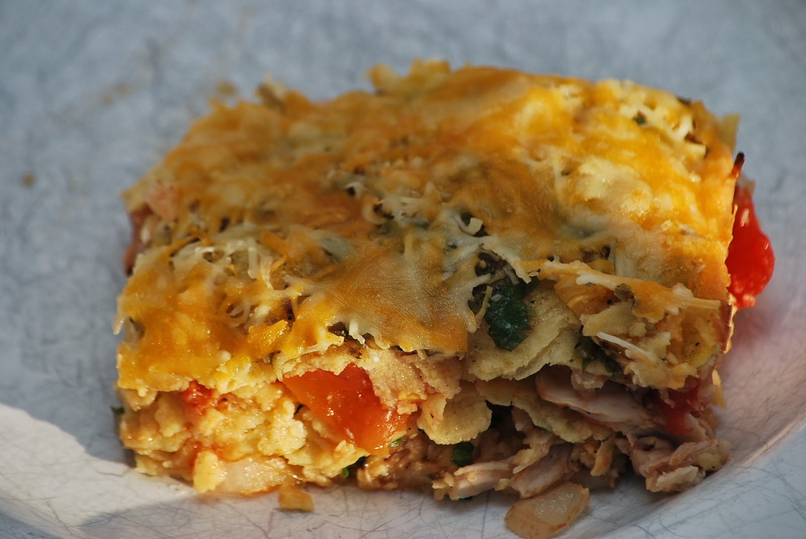 My story in recipes: Stacked Chicken Enchiladas