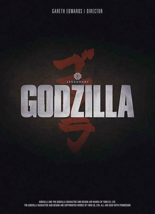 name poster teaser for Godzilla