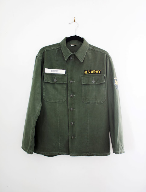 vintage us army shirt at the cut and chic vintage online shop