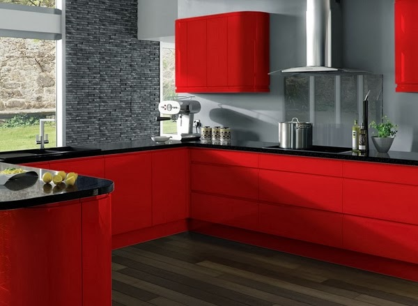 Modern Kitchen Design Color Red ~ Home Inspirations