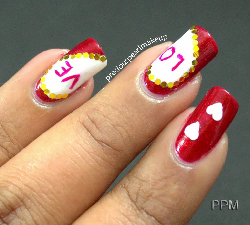 Valentine S Day Nails Art: Preciouspearlmakeup: Valentine's Day Nail Art And Tutorial