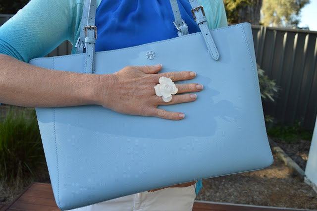 Sydney Fashion Hunter The Wednesday Pants #47 - Azure Ombre - Lovisa Ring & Tory Burch Tote