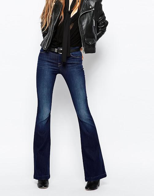 dark blue flared jeans J Brand, J Brand flared jeans, designer flared jeans,