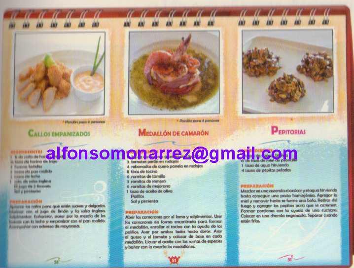 Libros recetas pescados y mariscos do a lupita recetas 1 for Procedimiento de cocina