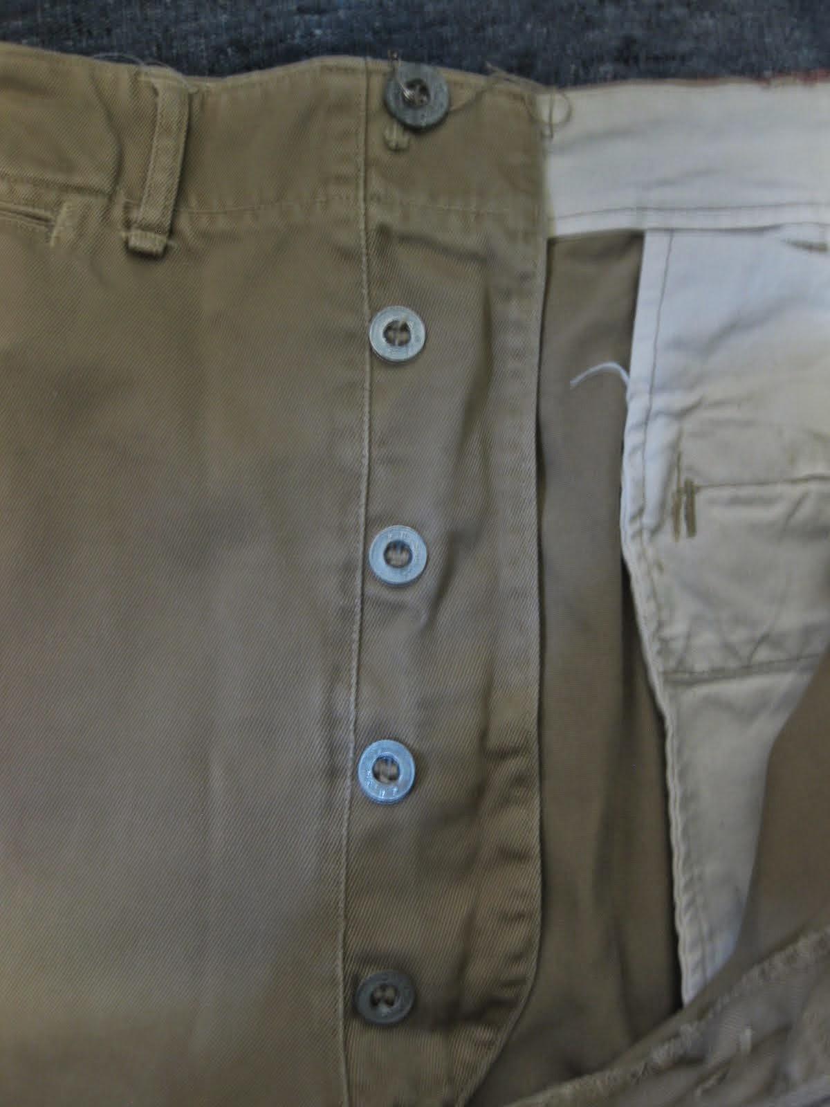 30's~40's メタルボタン U.S.ARMY CHINO PANTS 34×31