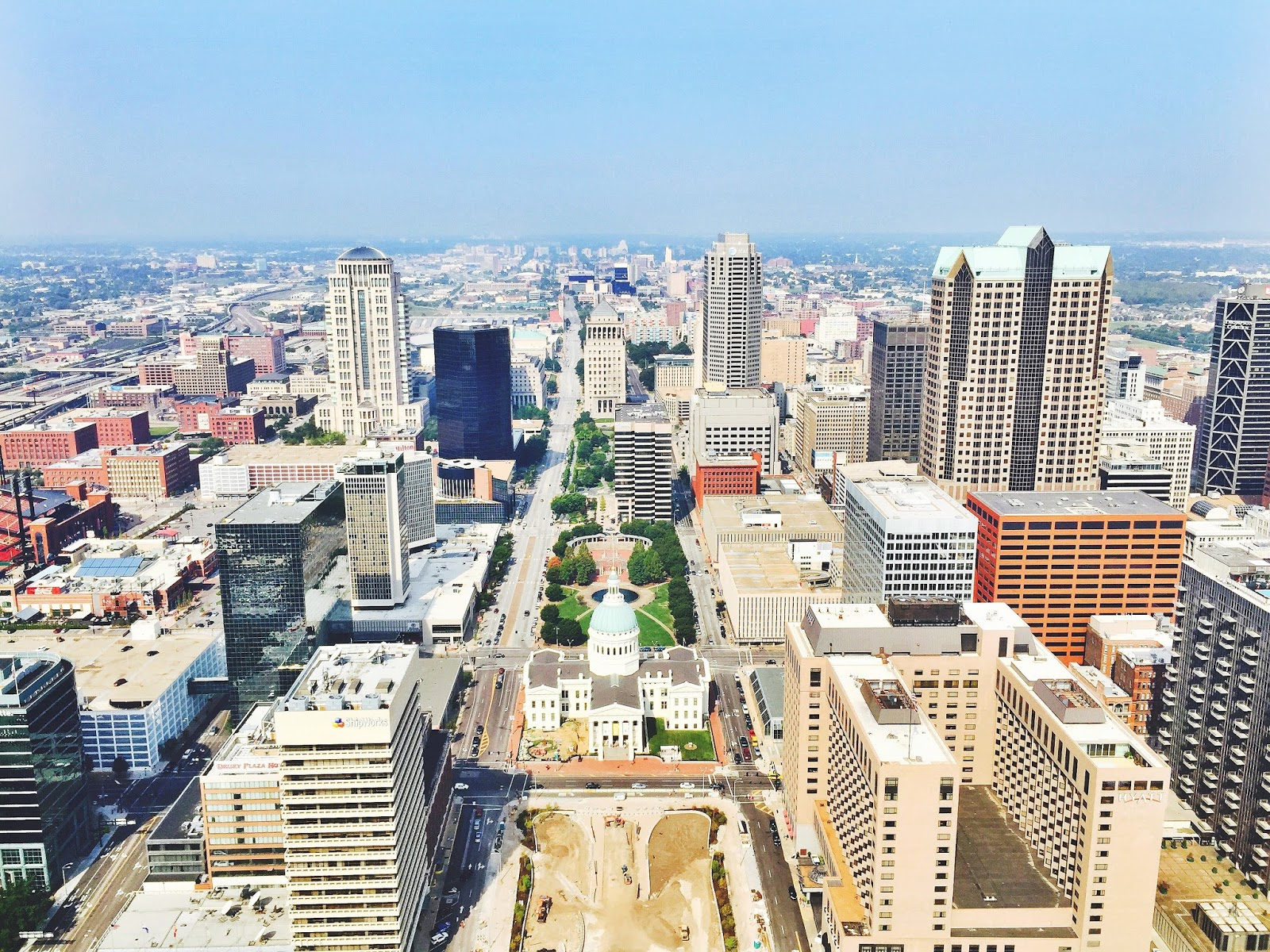 View of St. Louis from the Arch