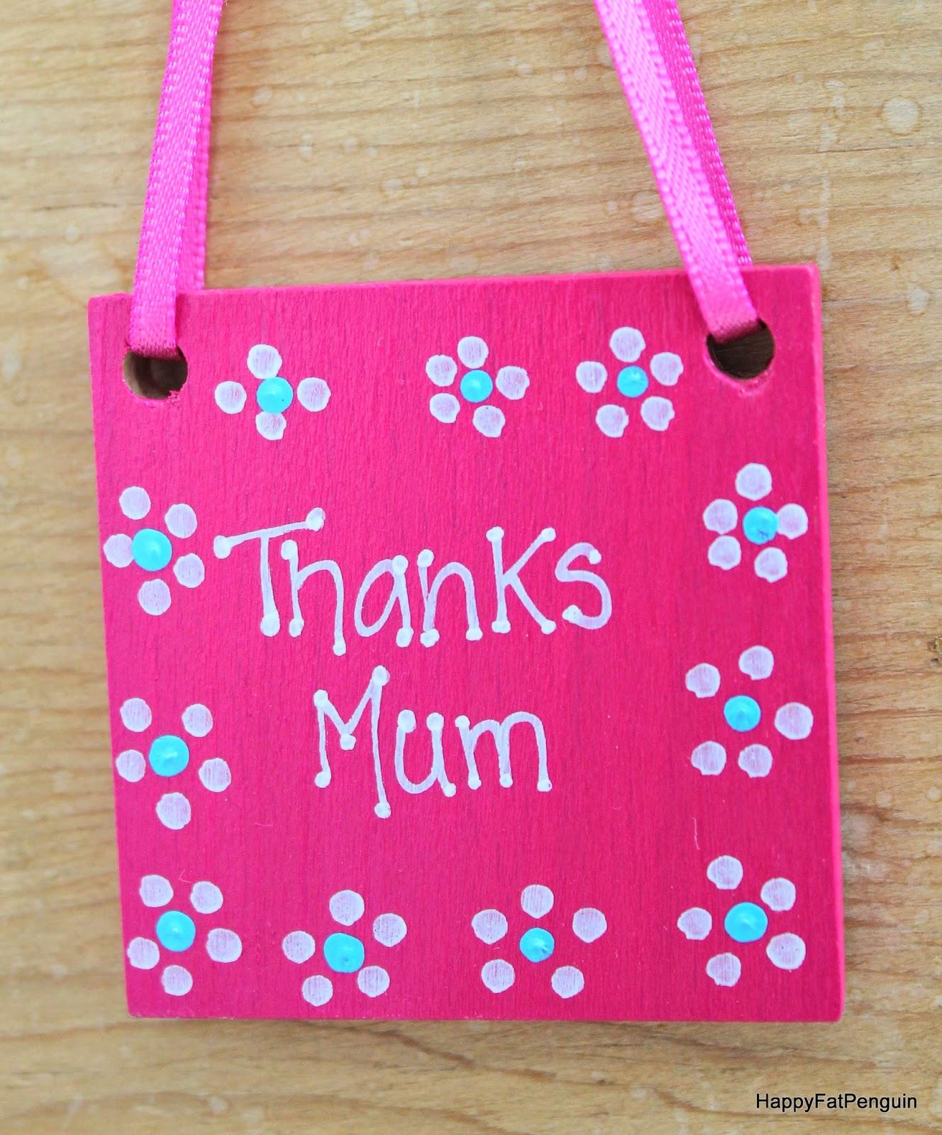 thanks mum hanging decoration