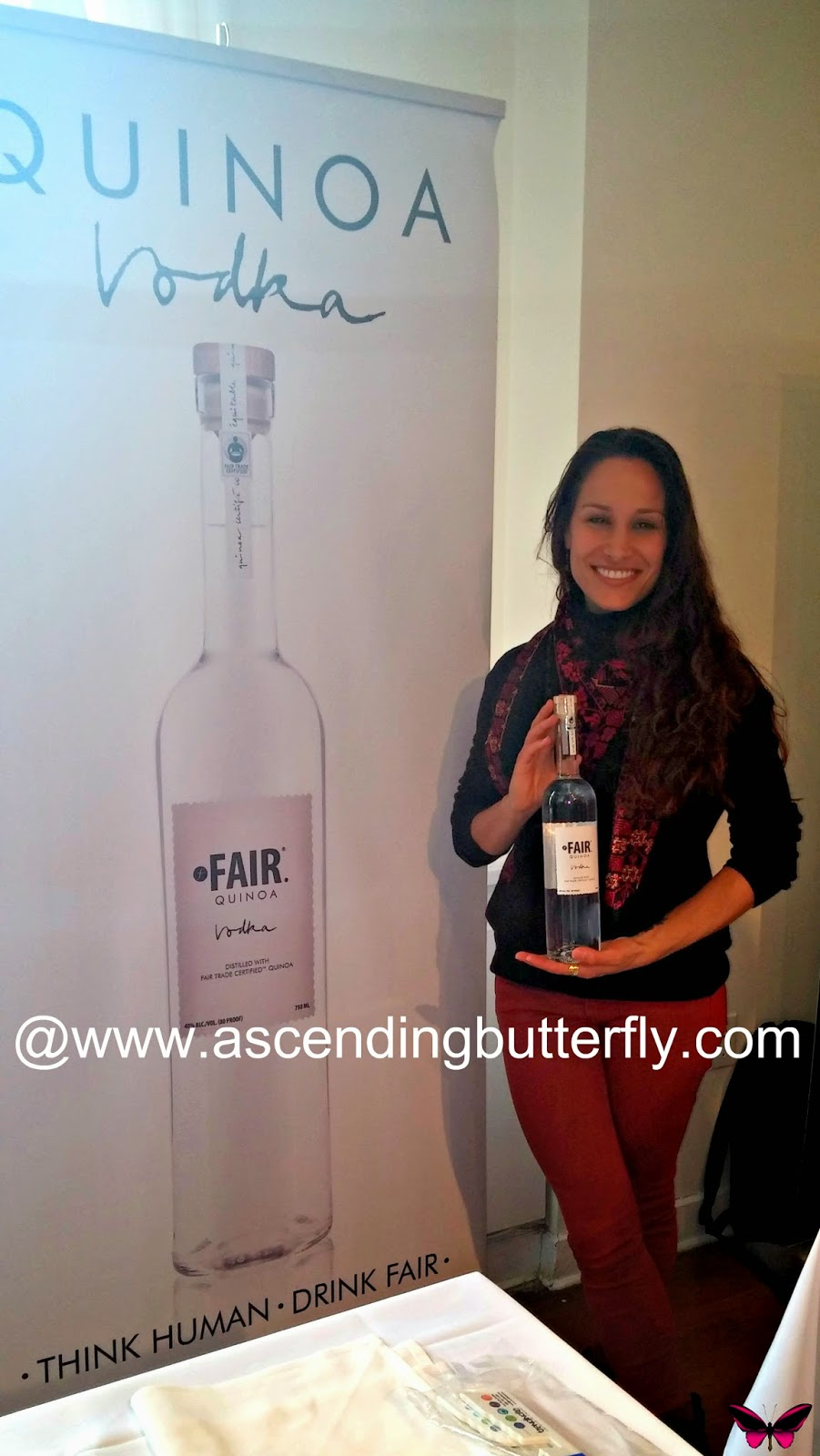 Fair Spirits. Fair Trade. FAIR Quinoa Vodka at BeautyPress Spotlight Day February 2014