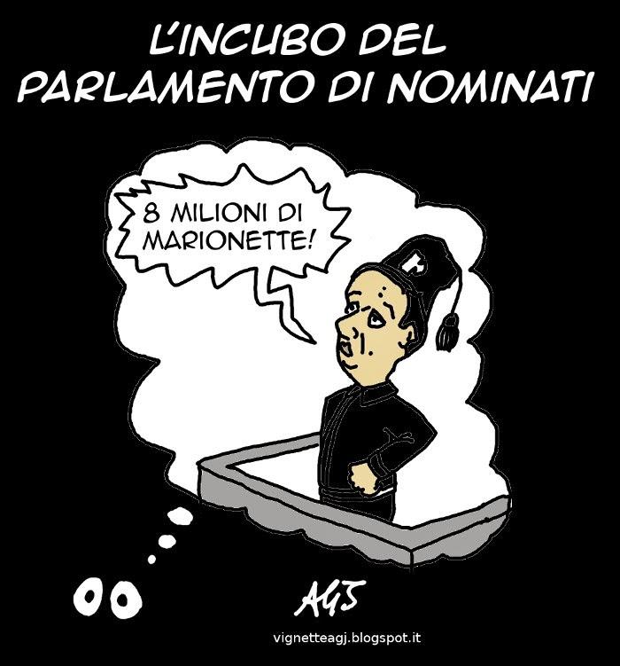 italicum, renzi, dittatura, satira, vignetta