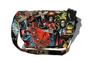 san marcos celebration cool and trendy punk rock diaper bag by Baby Rebellion