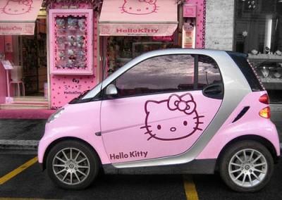 This is the cute car ever hello kitty go go xd