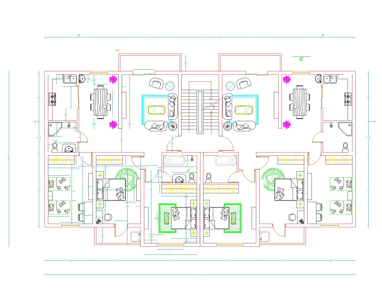 Apartment plans autocad apartment design ideas for Apartment plans autocad
