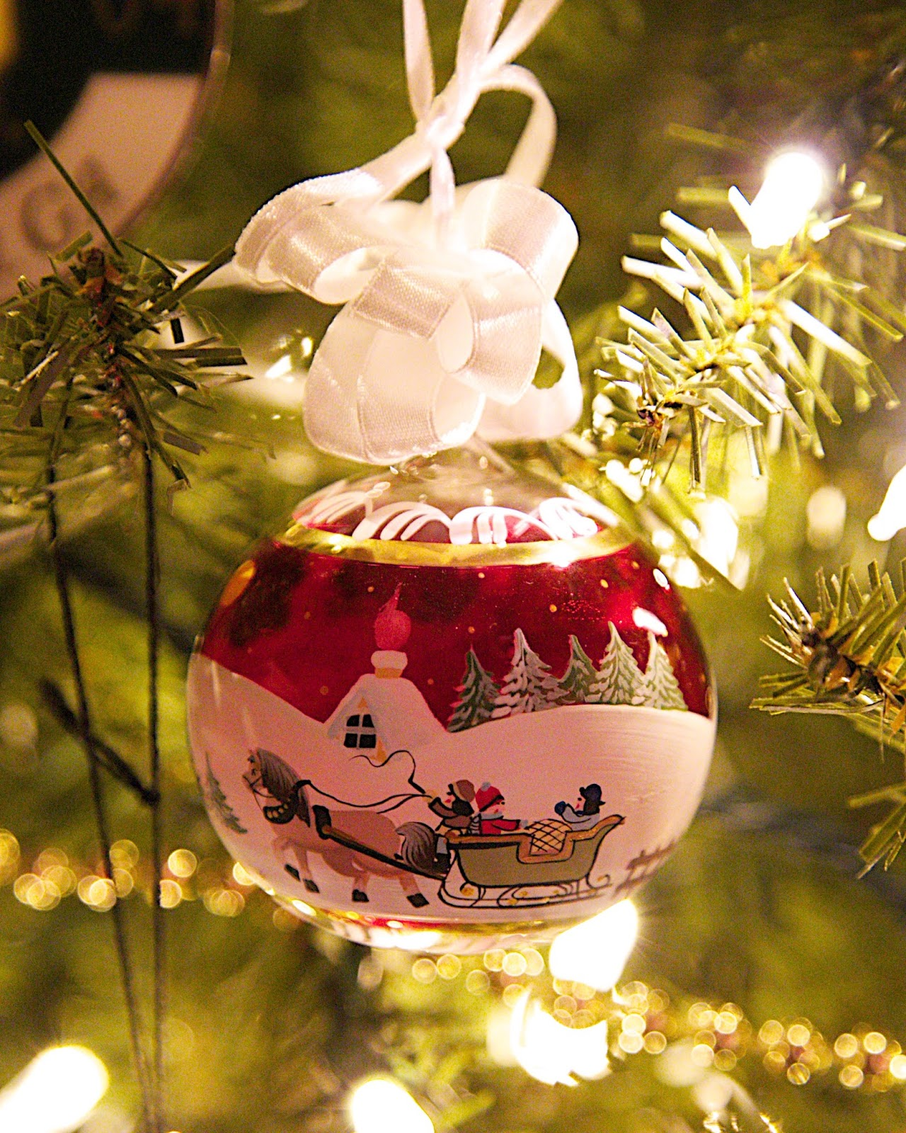 Hand Blown and Hand Painted Glass Ornament from Salzburg