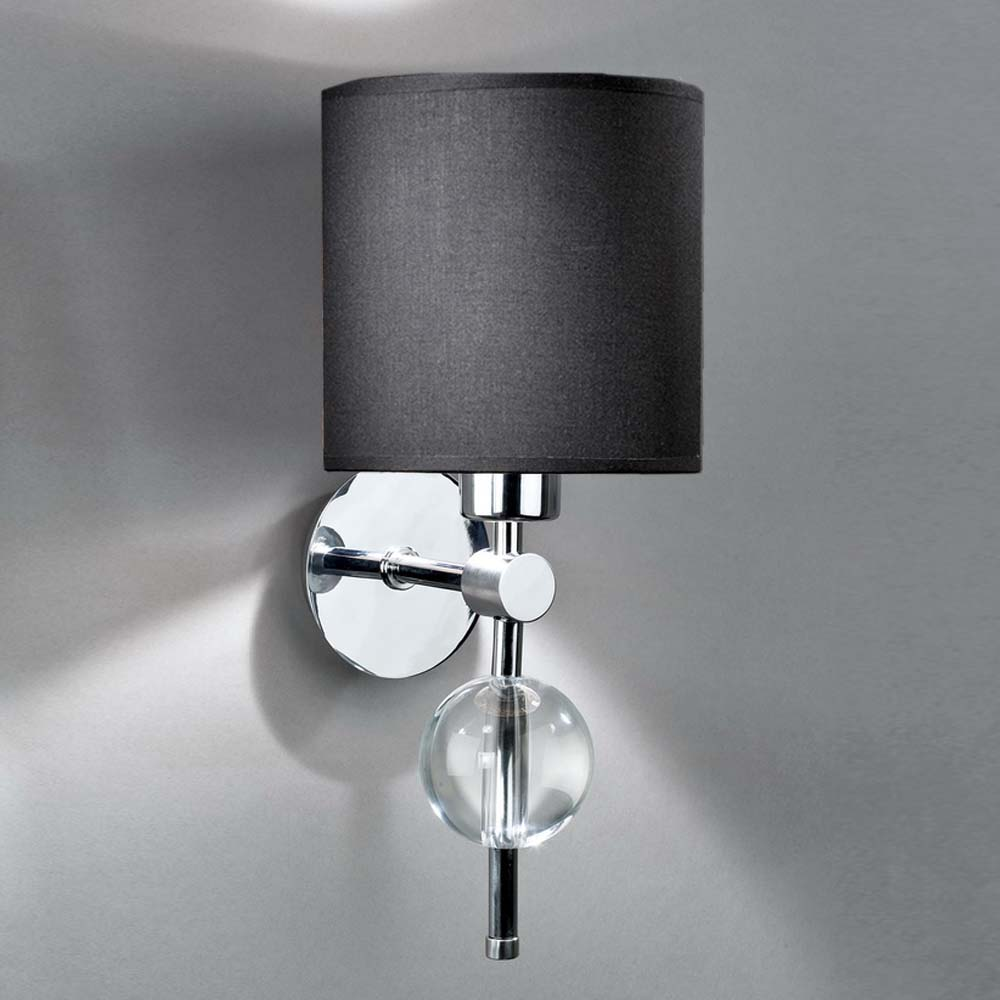 wandleuchten aus glas und kristall. Black Bedroom Furniture Sets. Home Design Ideas