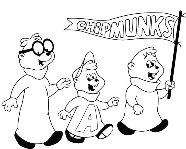Alvin and the Chipmunks Coloring Pages Printables: title=